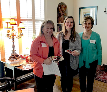New members  meet for tea at a private residence
